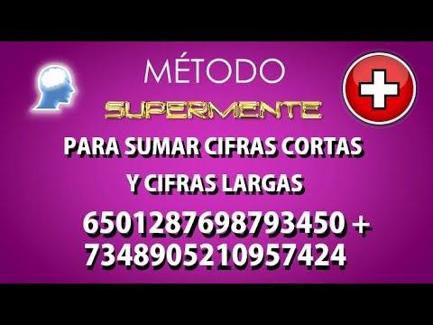 CÓMO  SUMAR  MENTALMENTE - Fácil y Rápido - www.supermente.net