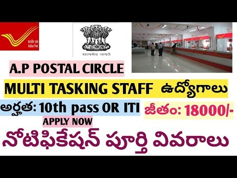 AP POSTAL MTS RECRUITMENT/NOTIFICATION 2018 || LAST DATE TO REGISTER  12-05-2018|| 94 POSTS