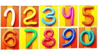 Learn Numbers For Children How To Count For Kids With Kinetic Sand And Play Doh Video For Babies