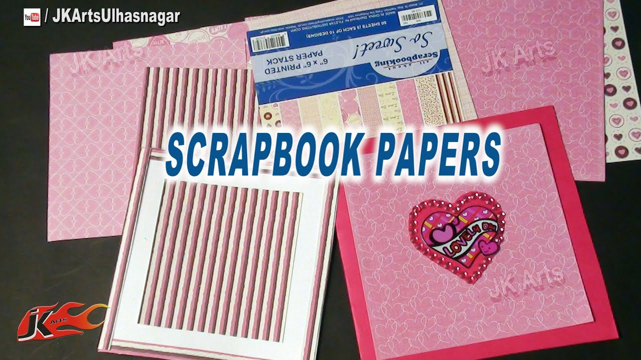 Scrapbook papers and how to use art and craft materials idea jk arts 653