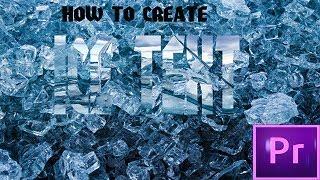 | كيفية إنشاء الجليد النص| ADOBE PREMIERE PRO التعليمي| مركز 4 U|
