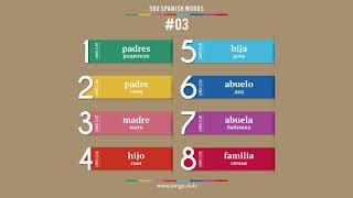 #03 - ИСПАНСКИЙ ЯЗЫК - 500 основных слов. Изучаем испанский язык самостоятельно.