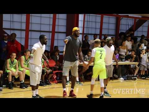 LeBron James Is The COOLEST DAD EVER! Coaches Bronny's Team In Vegas!