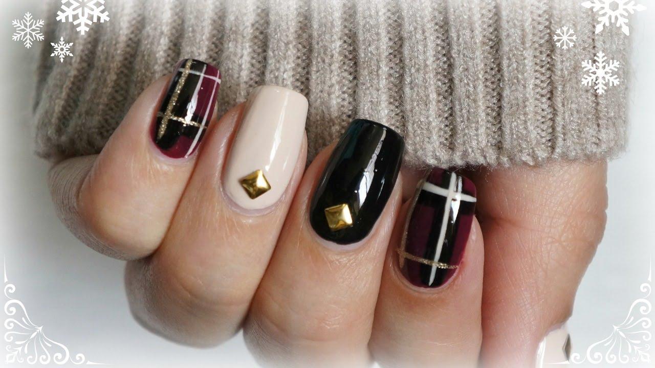 Diseño de uñas de invierno | AdriMani - YouTube