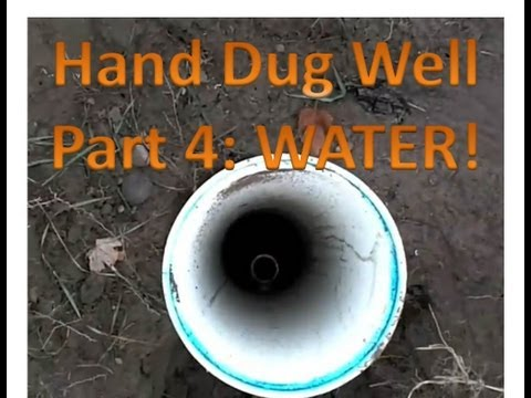 Hand dug well Part 4: Water water everywhere... - 동영상