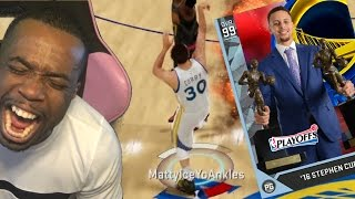 Repeat youtube video 99 OVERALL STEPHEN CURRY BUZZER BEATER RED RELEASE HALF COURT! NBA 2k16 Gameplay #BreakTheGame