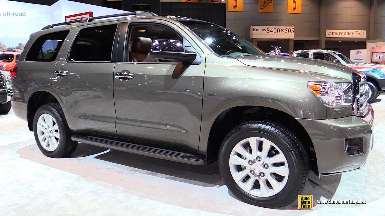 2015 Toyota Sequoia Platinum Exterior And Interior Walkaround 2015 Chicago Auto Show Youtube