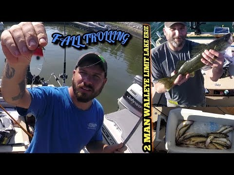 TROLLING for Fall walleye using downriggers & dipsey divers lake Erie, pa