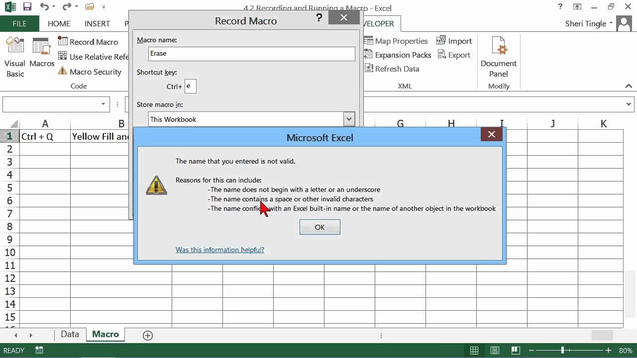 how to run macro in excel 2013 automatically