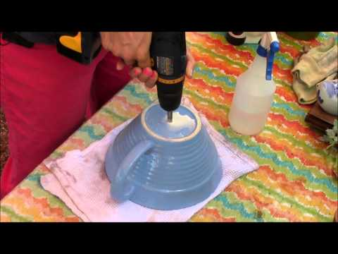 Drilling holes in pots