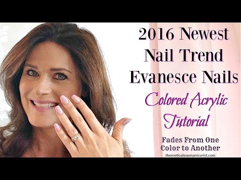 """Newest Nail Art Trend 2016 """"Evanesce Nails"""""""