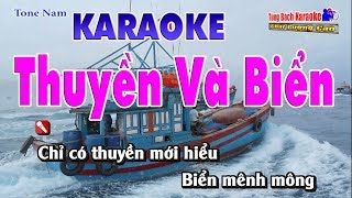 Thuyền Và Biển Karaoke 123 HD - Nhạc Sống Tùng Bách