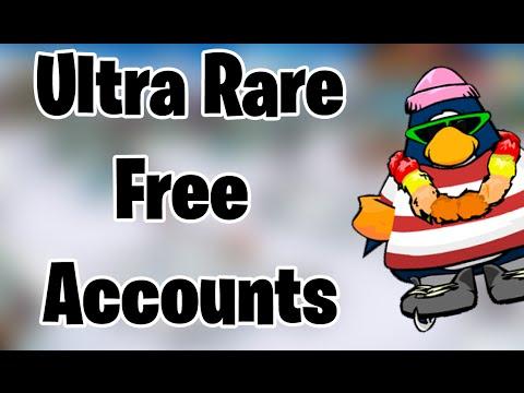 Free club penguin ultra rare accounts june 2015 youtube
