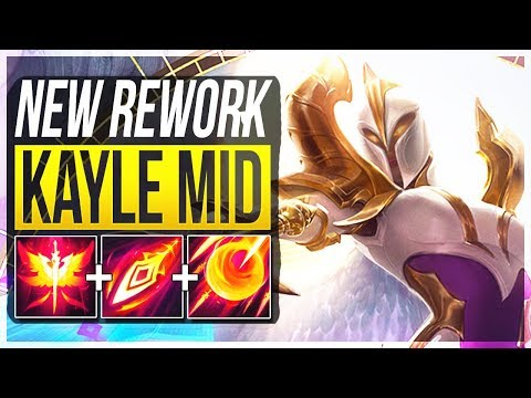 REWORKED KAYLE IS SO STUPID 1 OP LATE GAME CHAMP?? - Kayle Rework Mid Gameplay - LoL