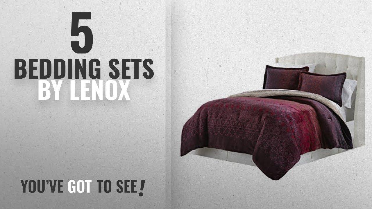 Top 10 Lenox Bedding Sets [2018]: Lenox C1512050 SCK AST Velvet Plush  Comforter Set Amanda