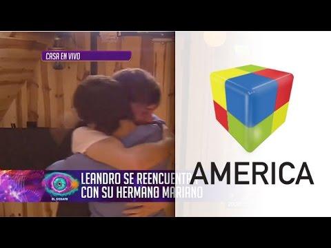Abrazos y lágrimas: el emotivo reencuentro de Leandro con su hermano