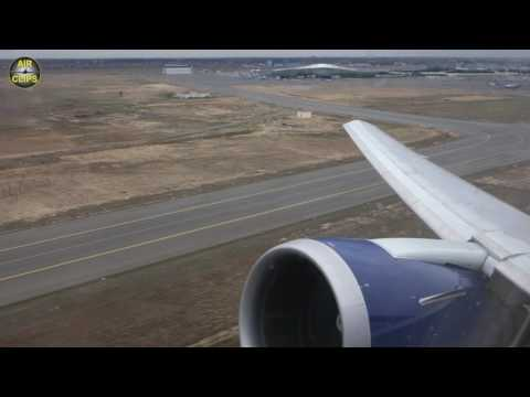 POWERFUL Azerbaijan Airlines Boeing 767-300 Takeoff from Baku, engine view [AirClips]