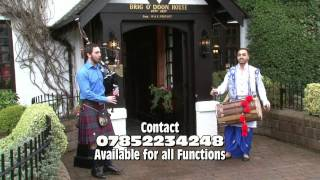 Goldie and Jonathan Bagpipes and Dhol set