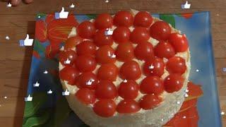 Рецепт новогоднего салата (КРАСНАЯ ШАПОЧКА). Праздничный салат красная шапочка на новогодний стол.