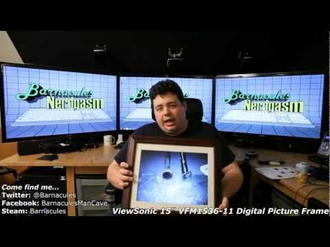 """Large Digital Picture Frame Unbox and Review - 15"""" - Viewsonic VFM1536-11"""