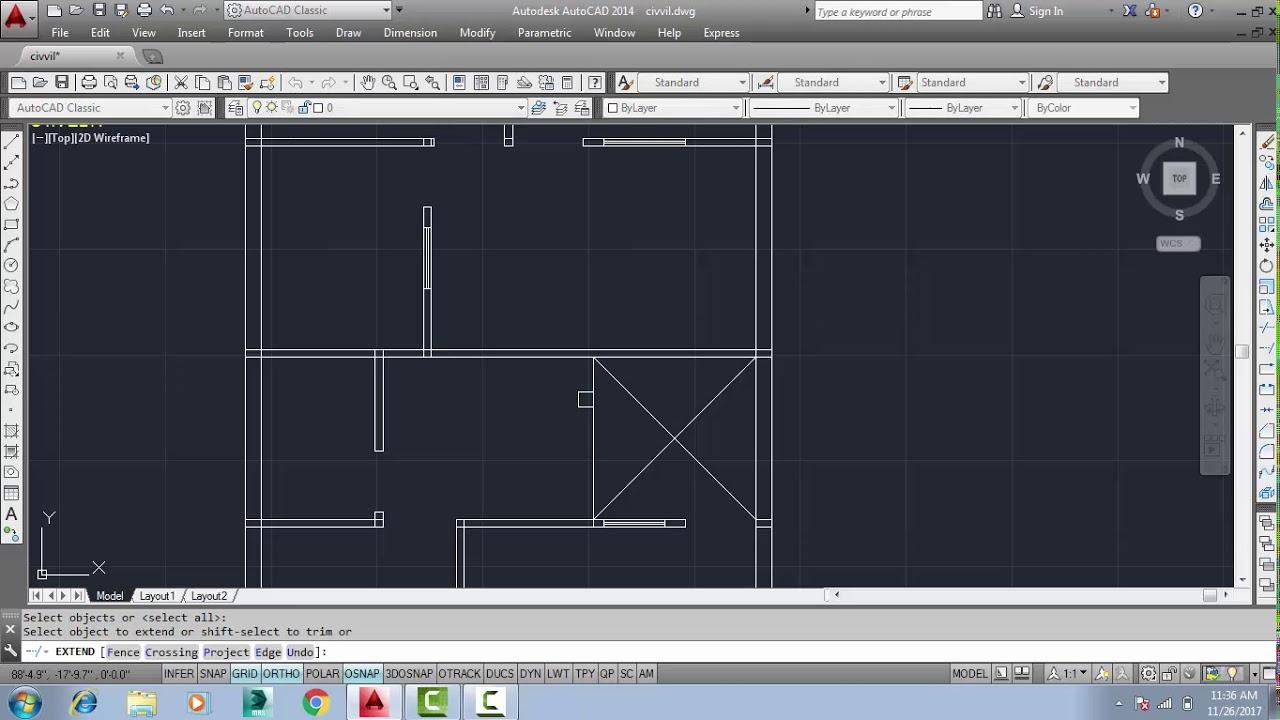 Civil Engineering drawing Part 2(Doors u0026 Windows) on AutoCAD  sc 1 st  YouTube & Civil Engineering drawing Part 2(Doors u0026 Windows) on AutoCAD - YouTube