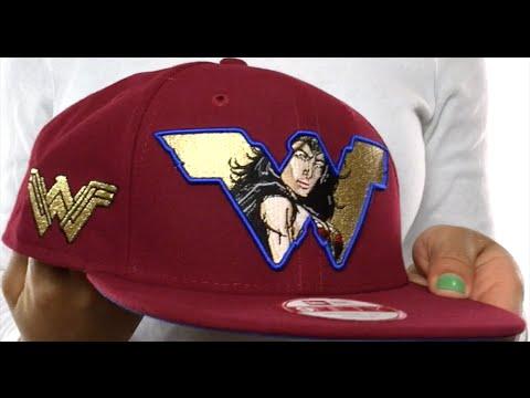 362370358d58b Wonder Woman  RETROFLECT SNAPBACK  Burgundy Hat by New Era - YouTube