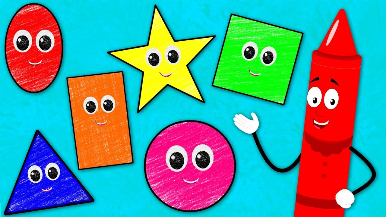 The Shapes Song | Learn Shapes | Crayons Nursery Rhymes ...