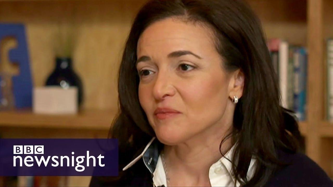 Sheryl Sandberg: 'I found him on a gym floor' - BBC Newsnight