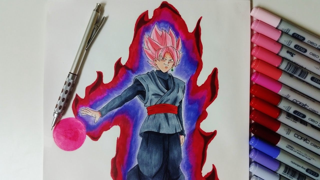 Sukhi draws super saiyan rose black goku dragon ball super youtube - Image dragon ball z gratuit ...
