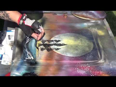 Spray Painting A Pirate Ship At Living Dead Weekend!