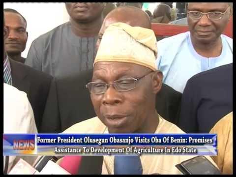 Former President Olusegun Obasanjo Visits Oba Of Benin