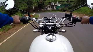 Interceptor 650 cornering | Stock exhaust sound | Raw video