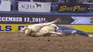 JD Struxness & Tyler Waguespack 3.9 Second TIE | NFR 2016 | Round 3 | Steer Wrestling thumbnail
