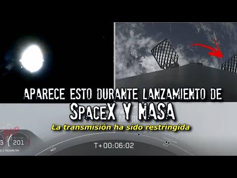 Aparece esto durante lanzamiento de SpaceX y Nasa | Avistamientos OVNI