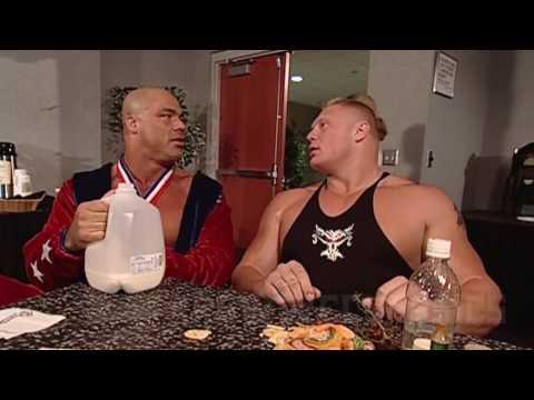 Brock lesnar and kurt angle funny moments