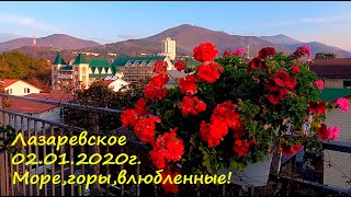 Утро 02 01 2021г Море горы и влюбленные Доброе утро ЛАЗАРЕВСКОЕ СЕГОДНЯ СОЧИ
