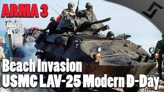 arma 3 modern d day usmc beachlanding w lav 25s