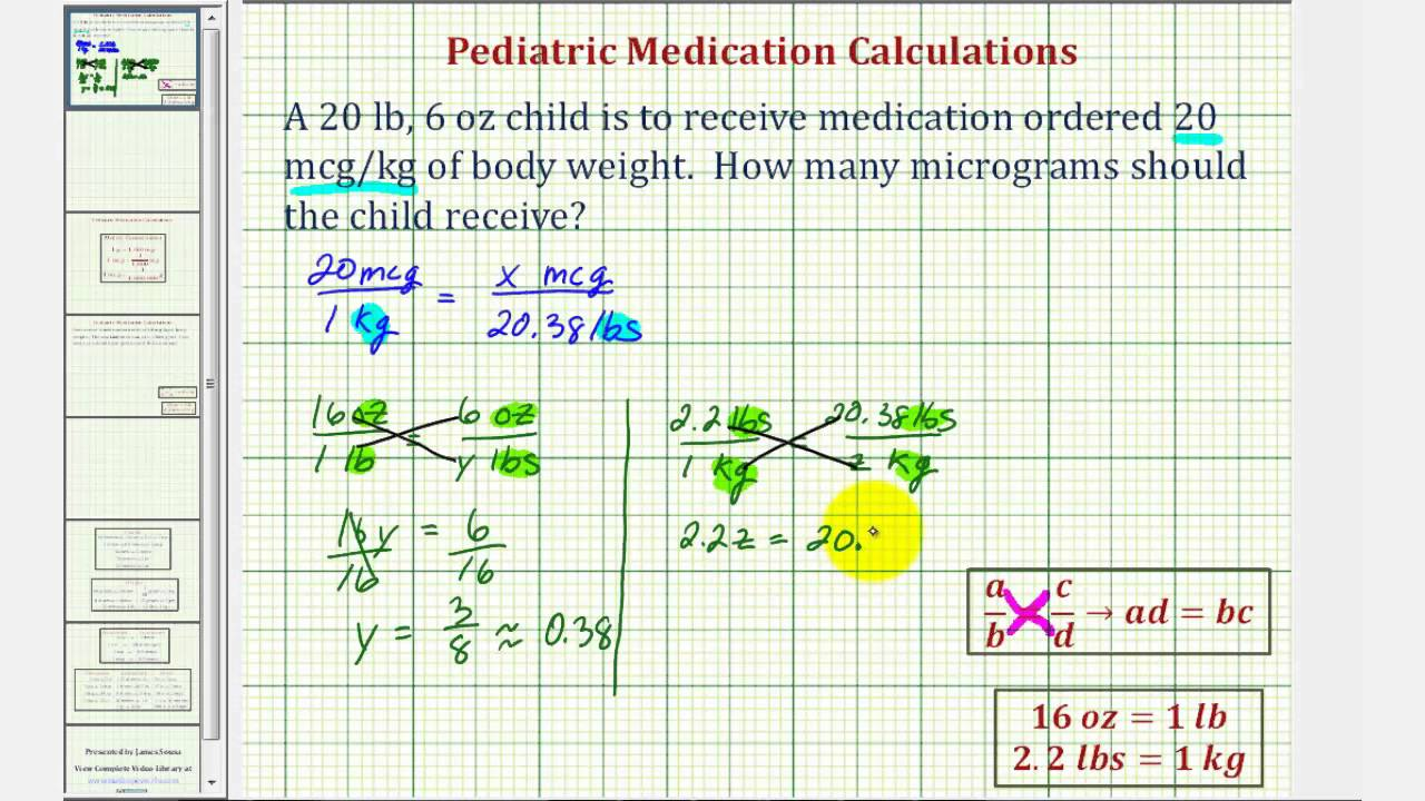 Ex Pediatric Medication Dosage Calculation Three Steps Youtube