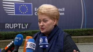 Belgium: Lithuanian Pres. calls for de-escalation with Russia during European summit arrivals