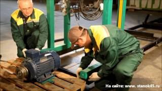 Інструкція по збірці і налаштування стрічкової пилорами ''Тайга'' з електроприводом (відео)