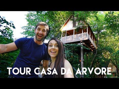TOUR NA CASA DA ÁRVORE | Casinha Travel and Share | Romulo e Mirella T4. Ep.195