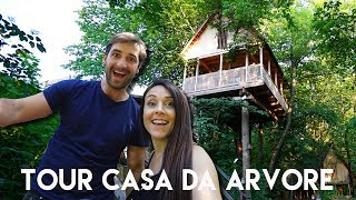 TOUR NA CASA NA ÁRVORE | Casinha Travel and Share | Romulo e Mirella T4. Ep.195