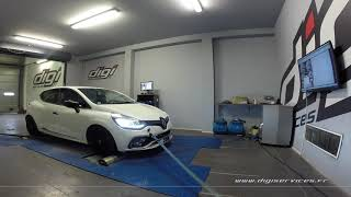Renault Clio 4 rs trophy 220cv  EDC Reprogrammation Moteur @ 249cv Digiservices Paris 77 Dyno