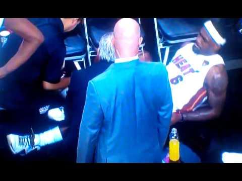 """Lebron hurt/cramps game 4 """"Oh Shit"""""""