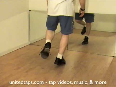 Spank Step Ball Change Tap Dance Move Shown by Rod Howell at unitedtaps.com