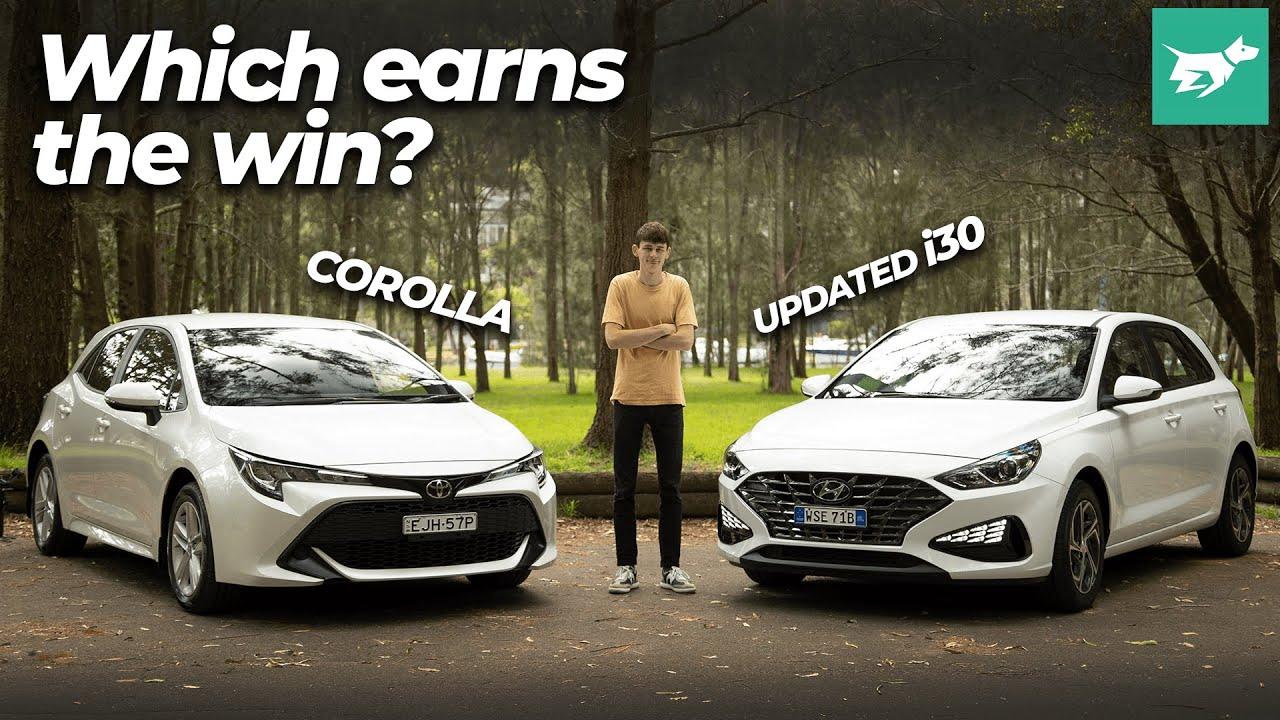 Toyota Corolla vs Hyundai i30 2021 comparison review | Chasing Cars