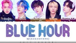 Download TXT – 'BLUE HOUR' Lyrics [Color Coded_Han_Rom_Eng]