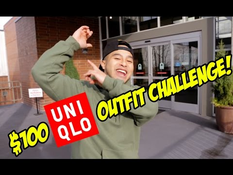 THE $100 UNIQLO OUTFIT CHALLENGE!! (THE ESSENTIALS)