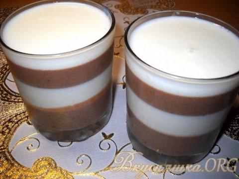 шоколадное желе слоями рецепт