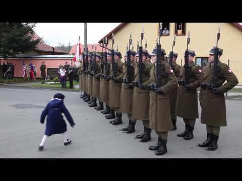 Salwa honorowa WP - wyzwolenie obozu koncentracyjnego przez BŚ NSZ
